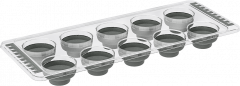 Форма для льда Irak Plastik силиконовая Серая (10242kmd)