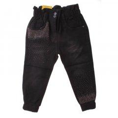 Штани джинсові для дівчинки SERCINO 57372 116 см чорний (410184)