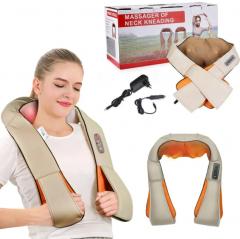 Роликовый массажер для спины и шеи, головы Massager of Neck Kneading электромассажер с инфракрасным прогревом