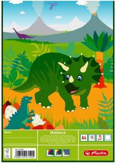 Альбом для рисования Herlitz Dino Динозавр А4 75 листов (471409D)