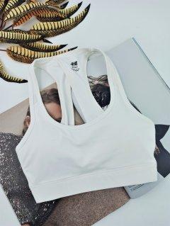 Топік H&M спортивний для фітнесу або танців 2XL білий (07542381)