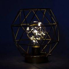 Новогодний светодиодный фонарик Devilon с металлическим каркасом 15 см Белый (140892)