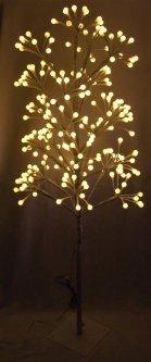 Новогодняя светодиодная декорация Devilon Дерево на подставке 120х18х18 см Белая (141134)