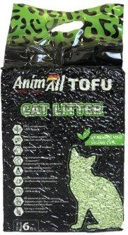 Наполнитель для кошачьего туалета AnimAll Тофу с ароматом зеленого чая Соевый комкующий 2.6 кг (6 л) (2000981103897/4820224500355)