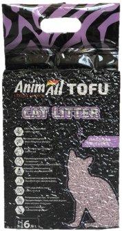 Наполнитель для кошачьего туалета AnimAll Тофу с ароматом лаванды Соевый комкующий 2.6 кг (6 л) (2000981139032/4820224500348)