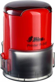 Оснастка для круглой печати d 42 мм Shiny R-542 красный корпус с крышкой (4710850542075)