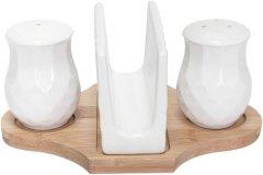Набор для соли и перца на подставке Krauff c салфетницей №2 4 предмета (21-275-021)