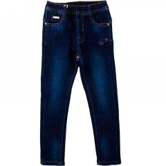 Джинси для дівчинки на флісі F_D DY-1123 140 см темно-синій джинс (433434)