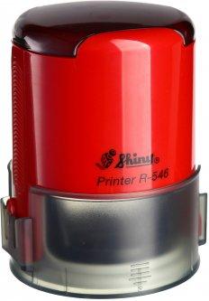 Оснастка для круглой печати d 46 мм Shiny R-546 красный корпус с крышкой (4710850546233)