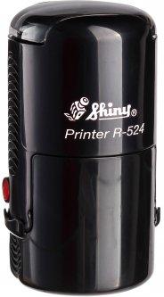 Оснастка для круглой печати d 24 мм Shiny R-524 черный корпус с крышкой (4710850524132)