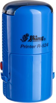 Оснастка для круглой печати d 24 мм Shiny R-524 синий корпус с крышкой (4710850524903)