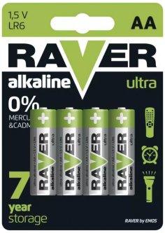 Батарейка Raver by Emos B7921 AA Alkaline BLI 4 шт (B7921)