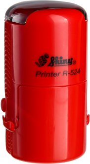 Оснастка для круглой печати d 24 мм Shiny R-524 красный корпус с крышкой (4710850524668)