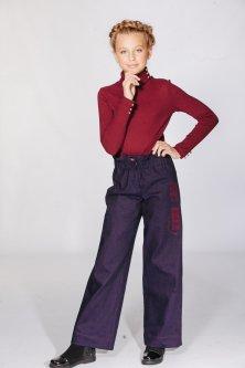 Джинси для дівчаток Lukas Kids з вишивкою 158 фіолетові(0336)