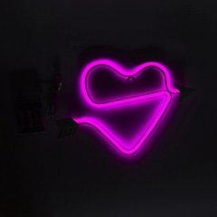 Светодиодная декорация Devilon Сердце со стрелой 25x15 см Розовый (140670)
