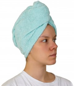 Тюрбан для сушки волос Red Point Beautiful hair хлопок махра Мятный (СД.01.Т.65.60.216)