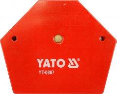 Магнитная струбцина для сварки YATO 111 х 136 х 24 мм 34 кг (YT-0867)