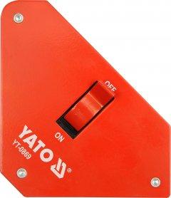 Магнитная струбцина для сварки с переключателем YATO 117 х 192 х 32 мм 25 кг (YT-0869)
