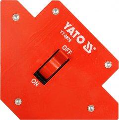 Магнитная струбцина для сварки с переключателем YATO 107 х 160 х 26 мм 13.5 кг (YT-0870)