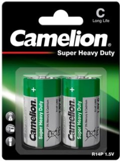Батарейка Camelion R14P-BP2B Green 2 шт (R14P-BP2G)