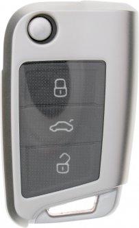Чехол для автоключа LaManche Volkswagen / Skoda / Seat Silver (VW-B02T_slv)