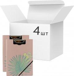 Набор папок-планшетов VGR с клипом А4 картон Розовых 4 шт (Я44252_SK001_4_розовый)