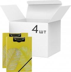 Набор папок-планшетов VGR с клипом А4 картон Желтых 4 шт (Я44252_SK001_4_желтый)