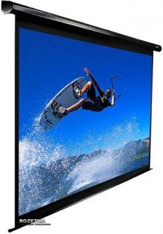 """Elite Screens моторизированный настенный 100"""" (16:9) 124.5 x 221.5 (Electric100H) Black Case"""