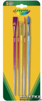 5 кисточек Crayola для рисования красками (3007) (5010065030077)