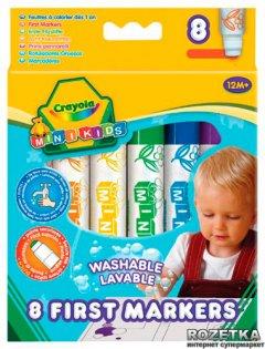 Широкие фломастеры Crayola легко смываемые 8 шт (8324) (5010065083240)