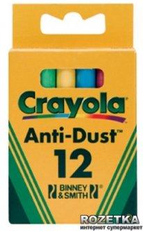 12 цветных мелков Crayola с пониженным выделением пыли (0281) (5010065002814)