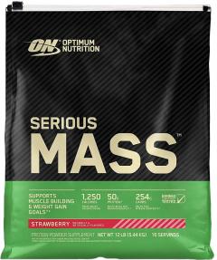 Гейнер Optimum Nutrition Serious Mass 5.45 кг Strawberry (748927023817)