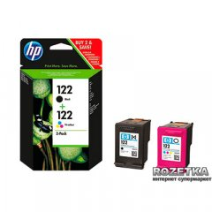 Комбинированный пакет картриджей для струйной печати HP 122 Black/Tri-color Combo-pack (CR340HE)