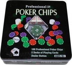 Набор Duke для игры в покер в оловянном кейсе 100 фишек (TC04101N)