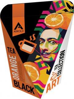 Чай черный с цедрой апельсина и лепестками сафлора Askold Art Tea Orange Black tea 65 г (4820171917824)