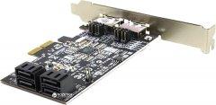 Контроллер STLab RAID eSATAIII/SATAIII 6.0Gbps 4 канала (2 внеш.+4 внутр.) PCI-E (A-520)