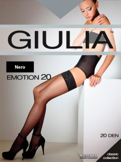 Чулки Giulia Emotion 20 Den 3/4 р Nero (4820040119878)