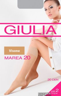 Гольфы Giulia Marea Gambaletto 20 Den 2 пары Visone (4820040120737)