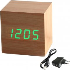 Часы-будильник UFT Wood Clock Green (uftwoodclock)