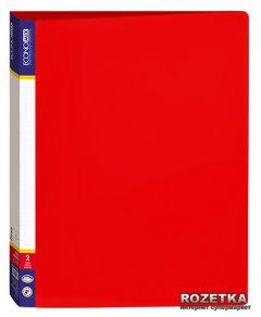 Папка пластиковая Economix А4 700 мкм на 2 кольца Красная (30701-03)