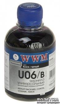 Чернила WWM U06 Canon/HP/Lexmark/Xerox 200 мл Black (U06/B)