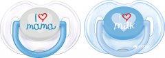 Пустышка Philips AVENT Classic I love 0-6 мес 2 шт (SCF172/50_blue)
