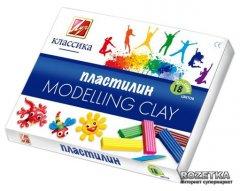 Пластилин Луч Классика + стек 18 цветов 360 г (20С1330-08) (4601185008384)
