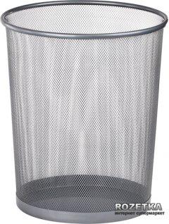 Металлическая корзина для бумаг Buromax Круглая 10 л Серебряная (BM.6270-24)