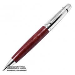 Ручка шариковая Gianni Terra Red Черная 1 мм Серебристо-красный корпус в футляре (HH1328/B)
