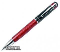 Ручка шариковая Gianni Terra Red Черная 1 мм Красно-черный корпус в футляре (HH8198/B)