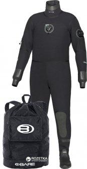 Мужской сухой гидрокостюм Bare D6 Pro Dry 6 мм XL Black (011134BLK-50XL)