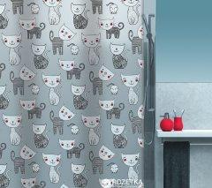 Шторка для ванной Spirella Mizzy 180x200 Peva Серая (10.15237)