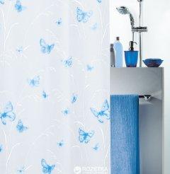 Шторка для ванной Spirella Butterfly 180x200 Peva Голубая (10.28191)