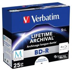Verbatim M-Disc BD-R 25 GB 4x Jewel 5 шт Printable (43823)